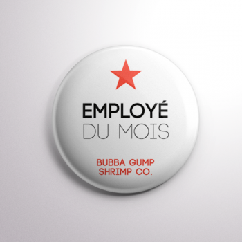 Badge Bubba Gump