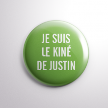 Badge Le Kiné de Justin