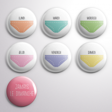 7 Badges Culottes Pastel