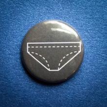 Badge Culotte grise