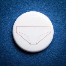 Badge Culotte blanche