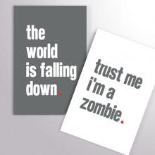 Duo Carnets I'm a zombie
